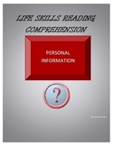 Personal Information Reading Comprehension Packet