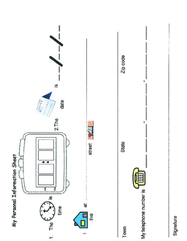 Personal Information Sheet/ Sign In sheet