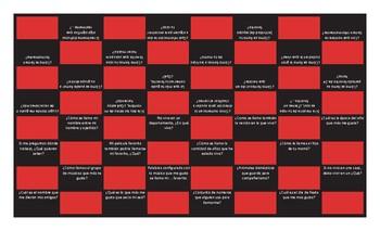 Personal Information Spanish Checker Board Game