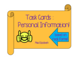Personal Information Task Cards