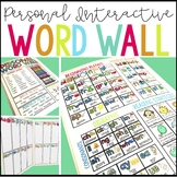 Personal Word Wall Folder (Editable)