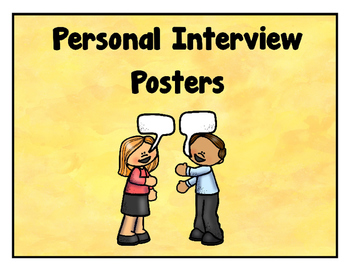 Personal Interview Posters - Freebie