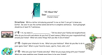 Personal Letter - Getting to Know You - Introduction - Ice Breaker