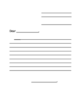 Personal Letter Template