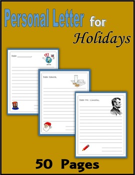 Personal Letter for Holidays