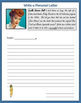 Personal Letter for Women's History Month