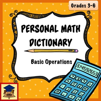 Personal Math Dictionary: Basic Operations