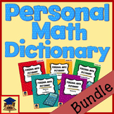 Personal Math Dictionary Bundle