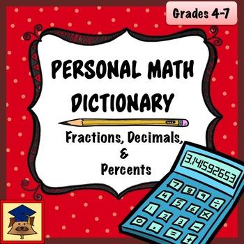 Personal Math Dictionary: Fractions, Decimals, and Percent