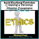 Personal Mission Statement: Social Emotional Learning Activities for Teens