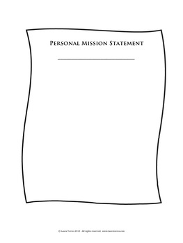 Personal Mission Statement Worksheets by Laura Torres | TpT