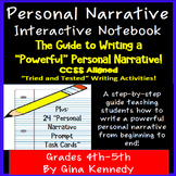 Personal Narrative Interactive Notebook, Complete Guide to