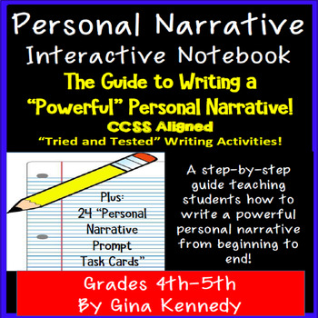 Personal Narrative Complete Guide! Activities, Organizers