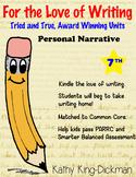 Personal Narrative 7th Grade