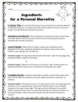 Personal Narrative: A Complete Guide to Help Your Students Write Their Own Story