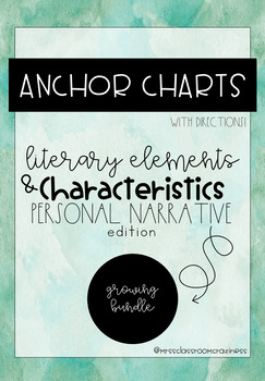Personal Narrative Anchor Charts Growing Bundle-for student notebooks!