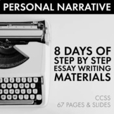 Personal Narrative Essay, Autobiographical Incident Writing, Step-By-Step, CCSS