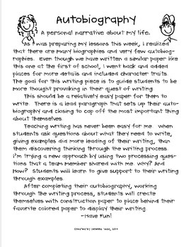 Writing an autobiographical narrative essay