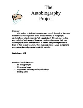 Personal Narrative Autobiography Project