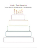Personal Narrative Birthday Cake Graphic Organizer