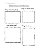 Personal Narrative Brainstorm Forms