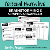 Personal Narrative Brainstorming Packet and Graphic Organizer