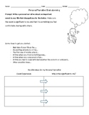 Personal Narrative Brainstorming Printables