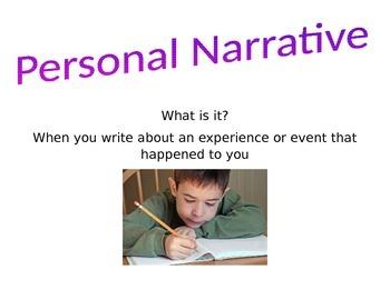 Personal Narrative Bulletin Board
