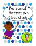 Personal Narrative Checklist