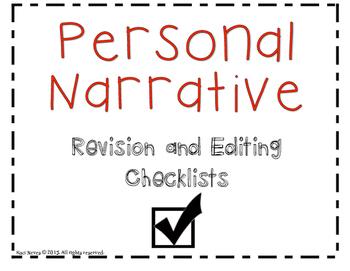 Personal Narrative Checklist