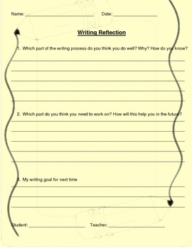 Personal Narrative Checklist and Reflection Sheet