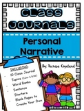 Personal Narrative Class Journals