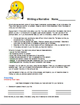 Personal Narrative Common Core Project and Guides Notes Intro