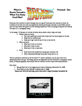 Personal Narrative Essay- Back to the Future