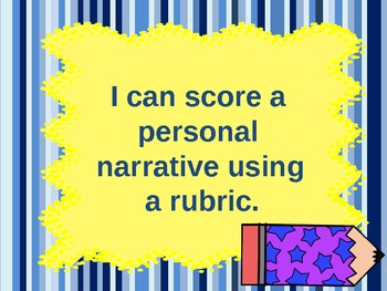 Personal Narrative Examples and Rating them