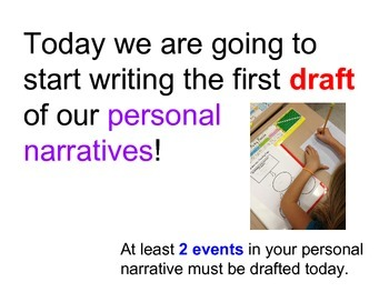Personal Narrative:  First Day of Drafting