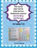 Personal Narrative Interactive Notebook Lesson: Ba-Da-Bing