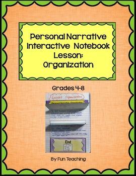 Personal Narrative Interactive Notebook Lesson: Organization