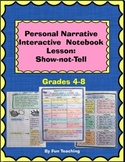 Personal Narrative Interactive Notebook Lesson: Show-not-Tell
