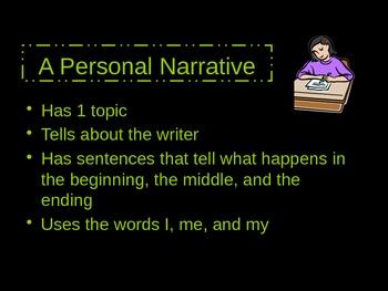 Personal Narrative Intro