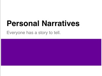Personal Narrative Introduction