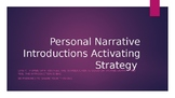 Personal Narrative Introduction Powerpoint