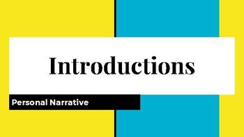 Personal Narrative Introductions Slideshow (Mini-Lesson)