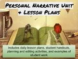 Personal Narrative Lesson Plans/Unit-Common Core!