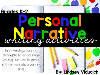 Personal Narrative Lessons, Activities, and Writing Centers