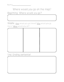 Writing Personal Narrative Travel and Maps Graphic Organizer