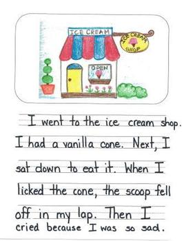 Personal Narrative Mentor Texts in First Grade: Farm, Ice Cream Shop, New House