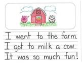 Personal Narrative Mentor Texts in Kindergarten: Farm, Ice