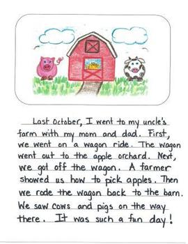 Personal Narrative Mentor Texts in Second Grade: Farm, Ice Cream Shop, New House