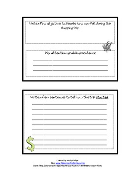 Narrative Writing Mini Book